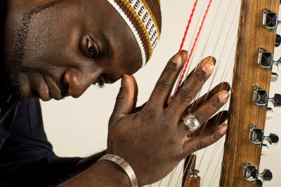 African musician close up view